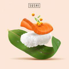 دانلود وکتور سوشی با طرح گرافیکی خاص