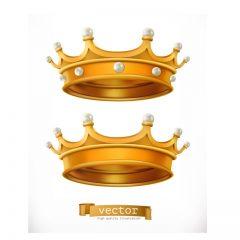 دانلود وکتور لوگو تاج پادشاهی زیبا و طلایی