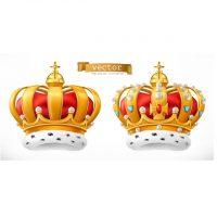 دانلود وکتور ارم و لوگو تاج پادشاهی سلطنتی زیبا