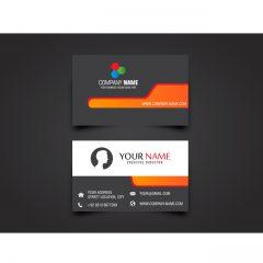 دانلود کارت ویزیت اماده شرکتی در رنگ قرمز نارنجی