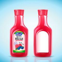 دانلود وکتور بطری ابمیوه صد درصد طبیعی