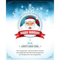 دانلود وکتور گرافیکی تبریک تعطیلات کریسمس طرح بابانوئل