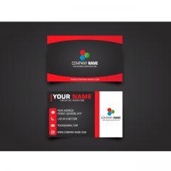 دانلود طرح لایه باز کارت ویزیت شرکتی با طرح قرمز و مشکی