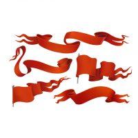 دانلود وکتور لوگو های پرچم قرمز با طرح های زیبا و شیک
