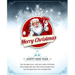 دانلود وکتور تبریک کریسمس با پس زمینه یخی
