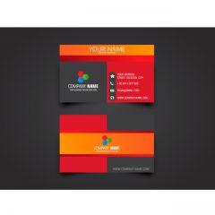 دانلود طرح لایه باز کارت ویزیت در رنگ های سرخ