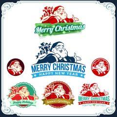 دانلود وکتور بابانوئل در رنگ های فانتزی