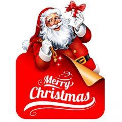 دانلود طرح لایه باز بابانوئل با ورقه تبریک کریسمس