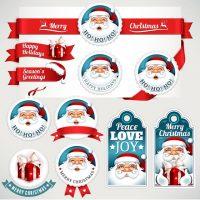 دانلود وکتور لوگو های بابانوئل با طرح شاد
