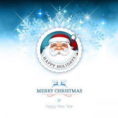 دانلود وکتور لیبل بابانوئل شاد با لوگو زیبا
