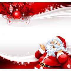 دانلود طرح لایه باز بابانوئل با زمینه ای سفید کاغذی