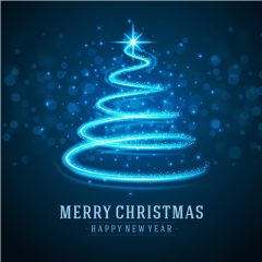 دانلود وکتور کریسمس طرح درخت کاج نوری ابی