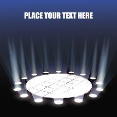 دانلود وکتور سکو با طرح افکت نوری زیبا