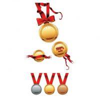 دانلود وکتور لیبل مدال های ورزشی در سه طرح