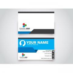 دانلود طرح لایه باز کارت ویزیت شخصی ابی