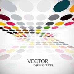 دانلود وکتور پس زمینه دایره های رنگی با طرح جذاب