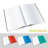 دانلود طرح لایه باز کتاب باز با ورق های سفید زیبا