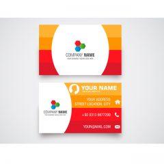 دانلود کارت ویزیت شرکتی لایه باز رنگی نارنجی