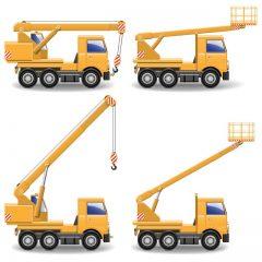 دانلود وکتور ماشین سنگین بالابر و حمل کننده