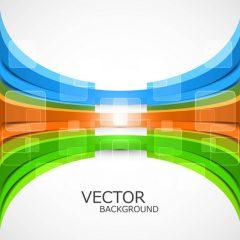 دانلود وکتور پس زمینه هندسی با لایه های رنگی فانتزی