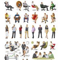 دانلود وکتور کاراکتر های مرد و زن در جاهای مختلف