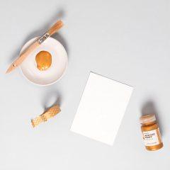دانلود تصاویر استوک قلمو نقاشی پهن با رنگ شیک