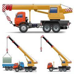 دانلود وکتور جرثقیل حمل و نقل ماشین و مصالح ساختمانی