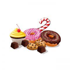 دانلود وکتور دونات و شیرینی های خوش رنگ