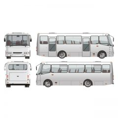 دانلود وکتور اتوبوس سفید مسافربری شهری