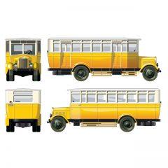 دانلود وکتور اتوبوس مدرسه زرد قدیمی