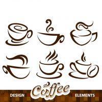 دانلود وکتور فنجان قهوه با طرح فانتزی زیبا