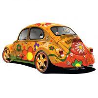 دانلود وکتور ماشین قدیمی فلوکس با طرح رنگی