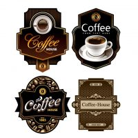 دانلود وکتور لیبل قهوه برای طراحی های خاص