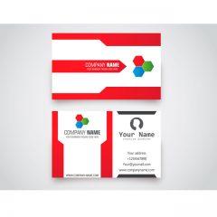 دانلود طرح لایه باز کارت ویزیت لایه باز قرمز