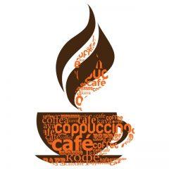 دانلود وکتور فنجان قهوه داغ خوش طعم