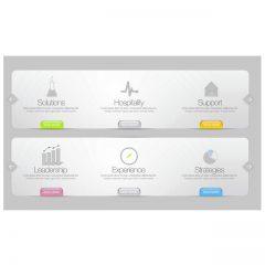 دانلود وکتور رابط کاربری برای طراحی قالب سایت