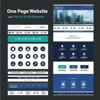 دانلود وکتور طراحی قالب سایت و اپلیکیشن موبایل