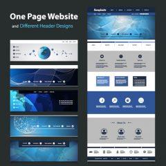 دانلود وکتور طراحی قالب سایت و هدر سایت خارجی