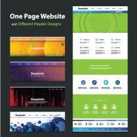 دانلود وکتور قالب و هدر سایت با طراحی زیبا