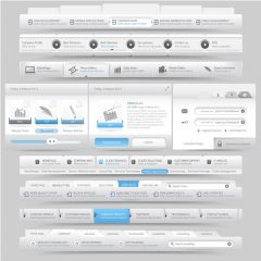 دانلود وکتور رابط کاربری طراحی هدر سایت