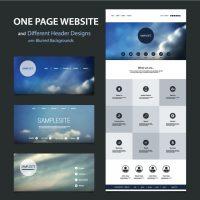 دانلود طراحی قالب سایت با هدر آسمانی مات