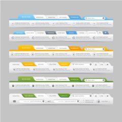 دانلود وکتور طراحی قالب سایت و هدر سایت