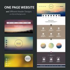 دانلود وکتور رابط کاربری طراحی هدر سایت مدرن