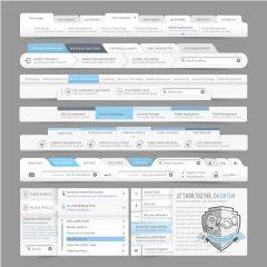 دانلود وکتور رابط کاربری طراحی قالب و منو سایت