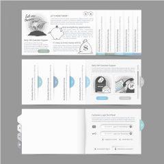 دانلود وکتور رابط کاربری طراحی ورود کاربران سایت