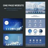 دانلود وکتور طراحی هدر سایت با منو های اختصاصی
