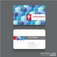 دانلود کارت ویزیت لایه باز خارجی مکعب های رنگی