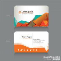 دانلود کارت ویزیت لایه باز تجاری نارنجی