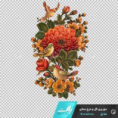 دانلود فایل دوربری شده گل و مرغ سنتی شماره 2 در ابعاد 1000 در 600
