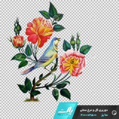 دانلود فایل دوربری شده گل و مرغ سنتی شماره 4 در ابعاد 2500 در 2100